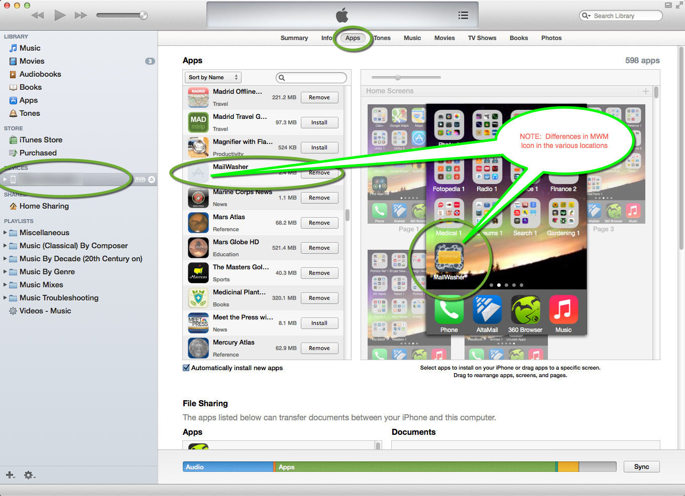 MacOSXiTunes_Devices-Apps_InconsistentMissingMWMIconImageInVariousLists.png